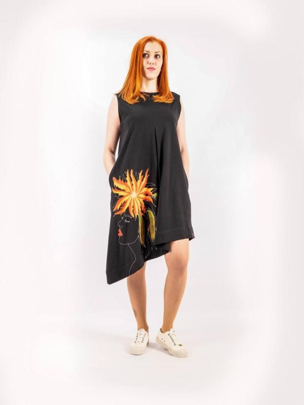Šaty tielkové šikmé A142