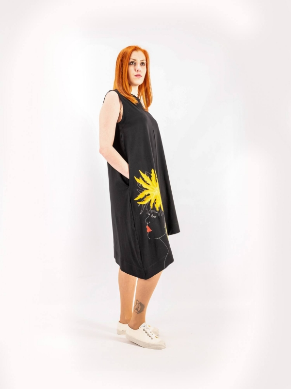Šaty tielkové šikmé A143