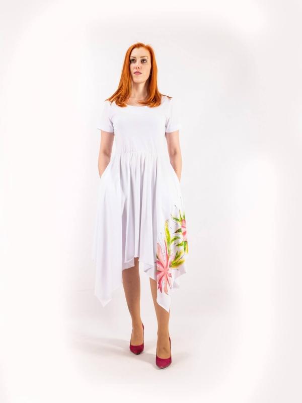 Dámske šaty ručne maľované A155
