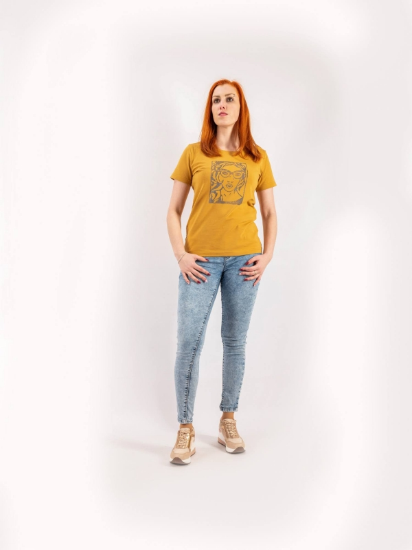 Dámske ručne potláčané tričko A159